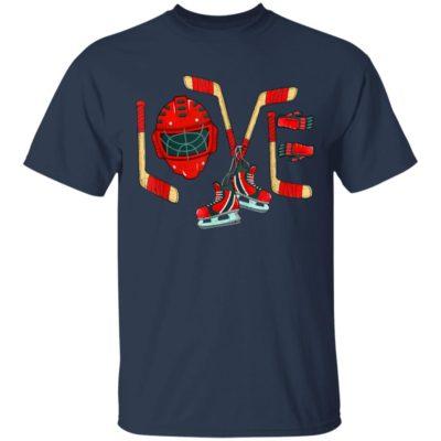 Ice Hockey Valentine's Day Shirt Long Sleeve Hoodie