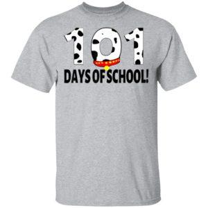 101 days of school dalmatian dog shirt long sleeve hoodie
