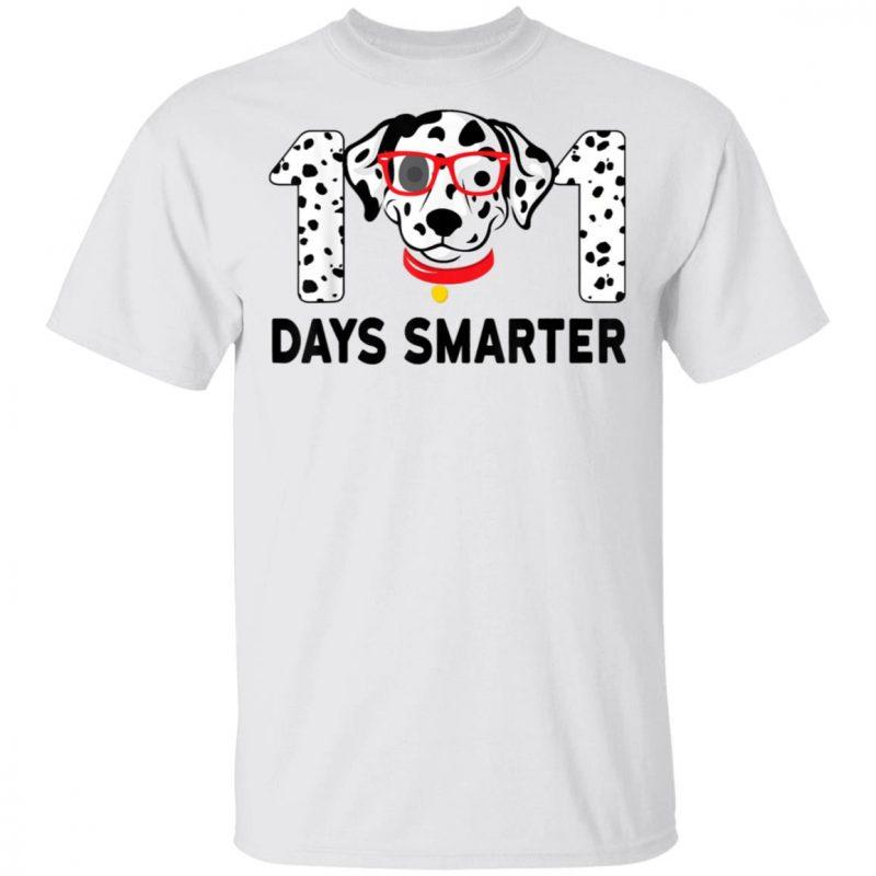 101 Days Smarter Dalmation Dog Teachers Shirt Long Sleeve Hoodie