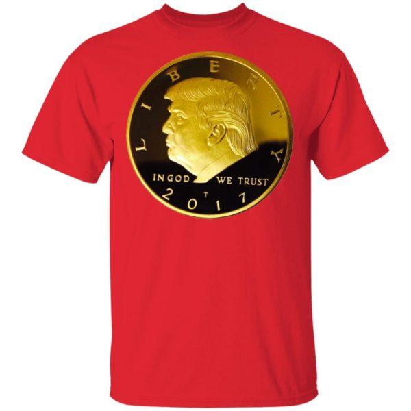 Donald Trump Gold Coin Shirt Long Sleeve Hoodie