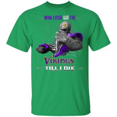 Patrick's Day Irish Win Lose Or Tie Minnesota-Viking T-Shirt