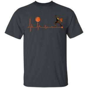 BBall Heartbeat Basketball Shirt Long Sleeve Hoodie