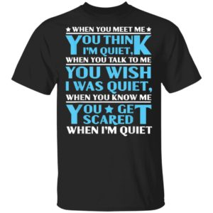 When You Meet Me You Think I'm Quiet T-Shirt Long Sleeve Hoodie