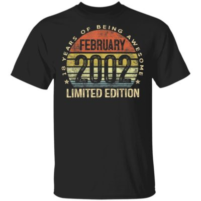 February 2002 Limited Edition 18th Birthday 18 Year Old Shirt