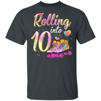 10 Years Old Birthday Girls Roller Skates 80s 10th Birthday T-Shirt