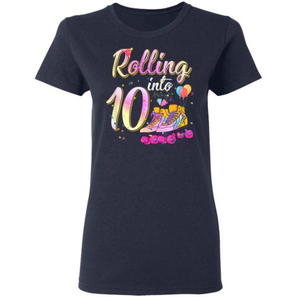 10 Years Old Birthday Girls Roller Skates 80s 10th Birthday T-Shirt