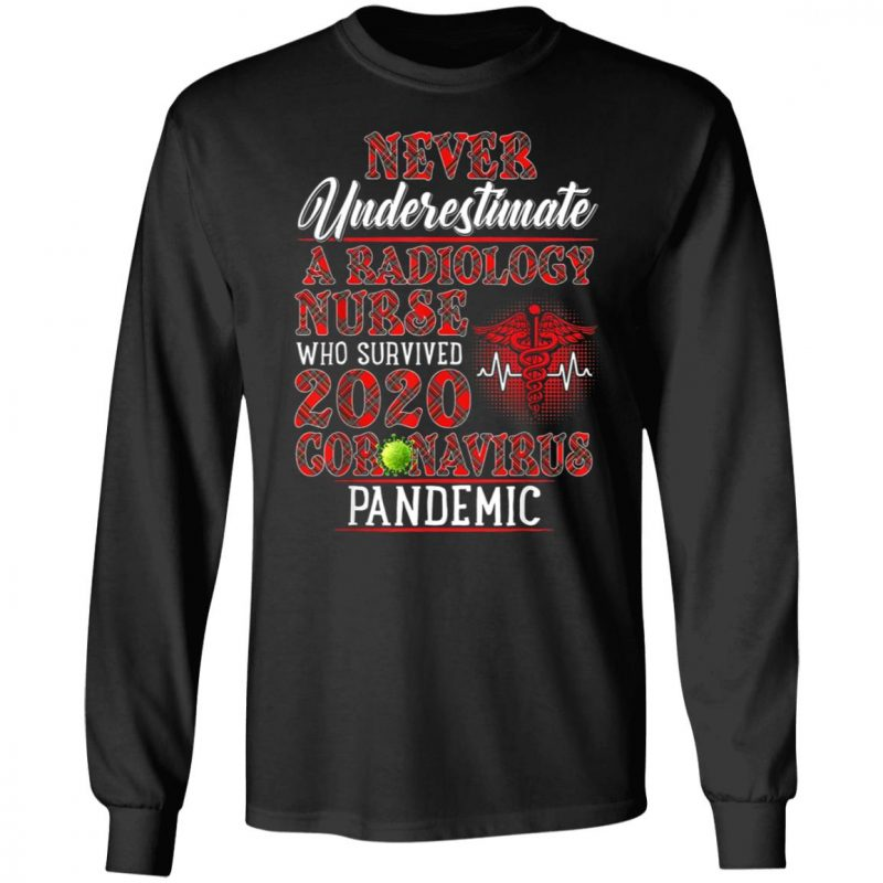 Never Underestimate A Radiology Nurse Who Survived 2020 Corona Pandemic Shirt