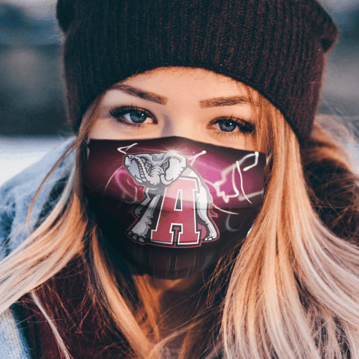 Alabama Crimson Tide Face Mask Filter PM2.5