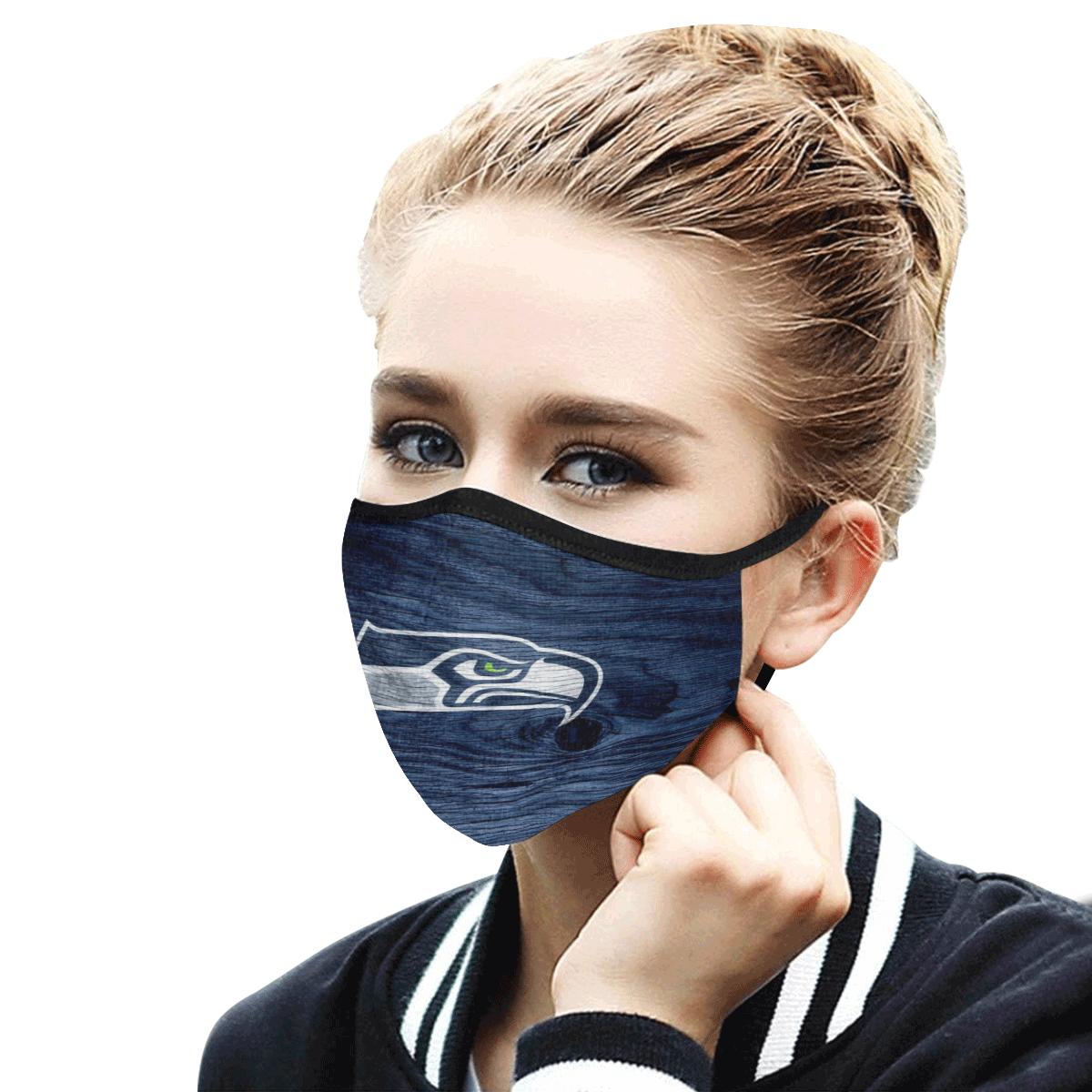 Seattle Seahawks Face Mask Antibacterial Fabric