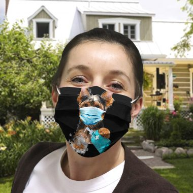 Yorkshire Terrier Dog Wash Your Hand Quarantined 2020 Face Mask
