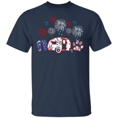 Fireworks camping flip flop 4th July independence shirt, Long Sleeve, Hoodie
