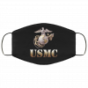 USMC Marine Corps Black Washable Reusable Face Mask