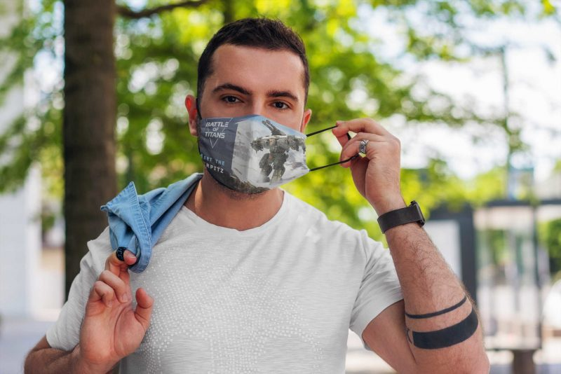 Battle of Titans Cloth Face Mask
