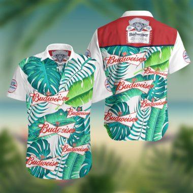 Budweiser Beer Summer Hawaiian Beach Shirt