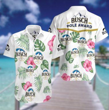 Busch beer Hawaiian Beach Shirt