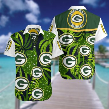 Green bay packers cannabis Hawaiian Beach shirt