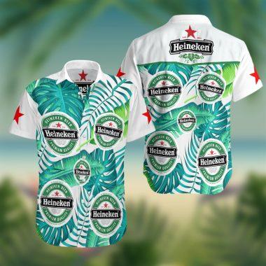 Heineken beer Summer Hawaiian Beach Shirt