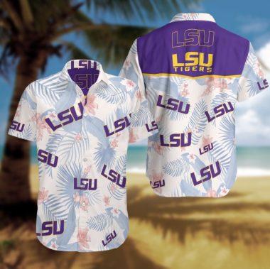 LSU Tigers Hawaiian Beach Shirt