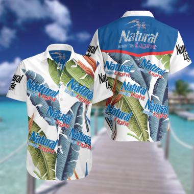 Natural Light Hawaiian Beach shirt