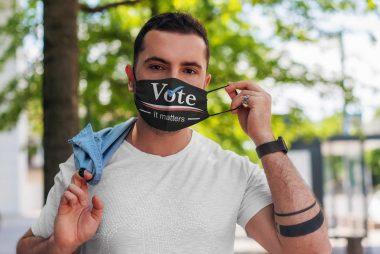 Vote it matters face mask