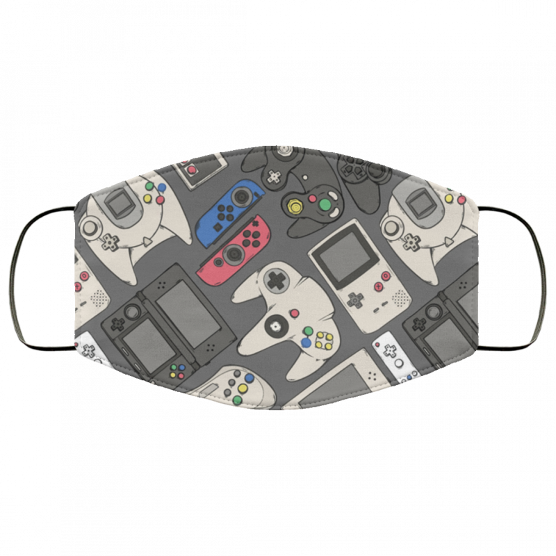 Video Game Controllers in True Colors Cloth face mask