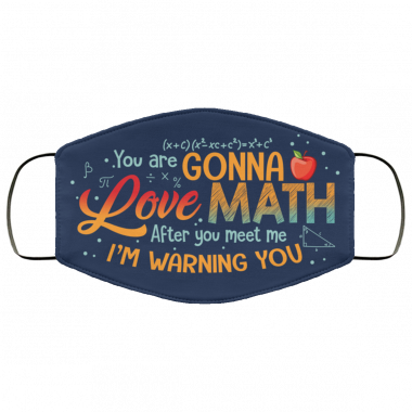 You Are Gonna Love Math After You Meet Me Im Warning You Face Mask