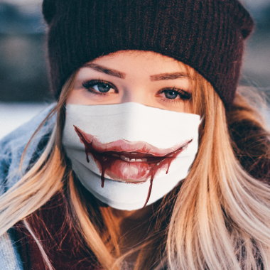 Bloody Mouth Face Mask Washable, Reusable