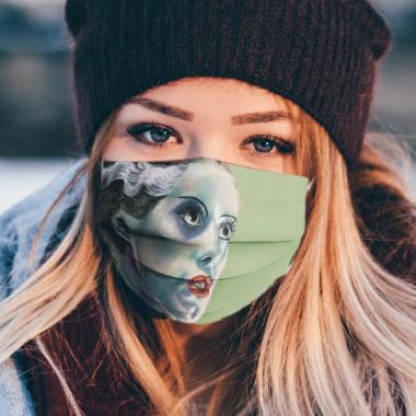 Bride of Frankenstein Face Mask Washable, Reusable
