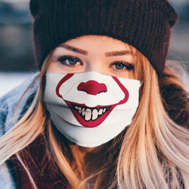 Creepy Clown Mouth Face Mask Washable, Reusable
