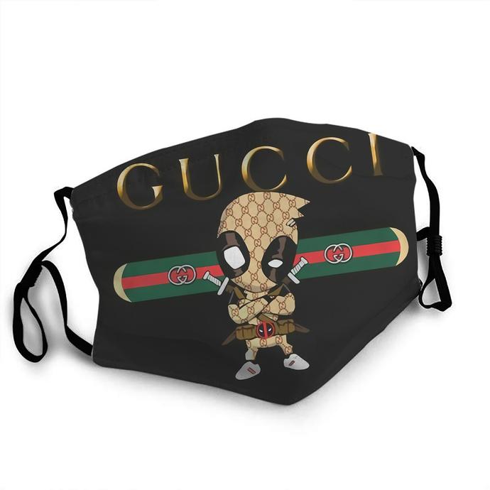 Gucci Deadpool face mask Reusable