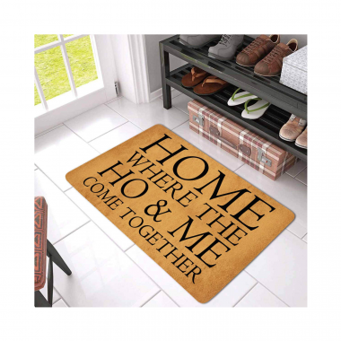 HOME, Where the Ho & Me Come Together Doormat
