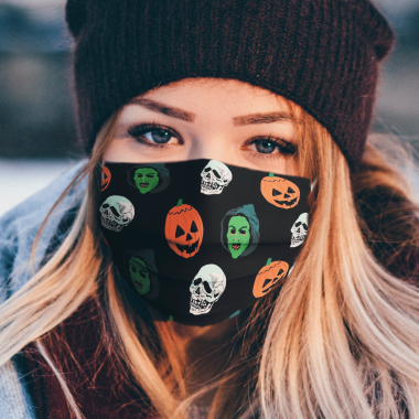 Silver Shamrock Mask Set Face Mask