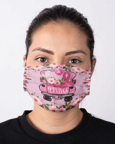 Survivor Hope Breast Cancer Awareness face mask