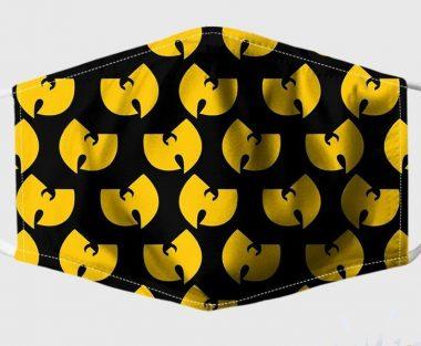 Yellow Wu-Tang Clan Logo handmade face mask