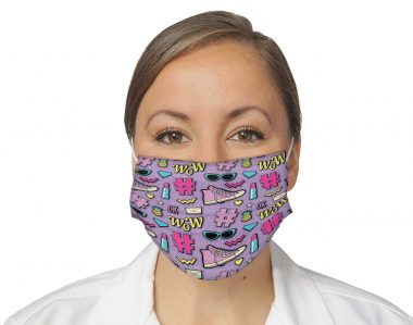 1990s Party Retro Vintage 90s Face Mask