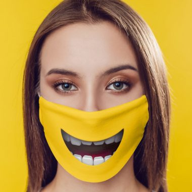 Funny Minions Yellow Mouth Smiling Face Mask