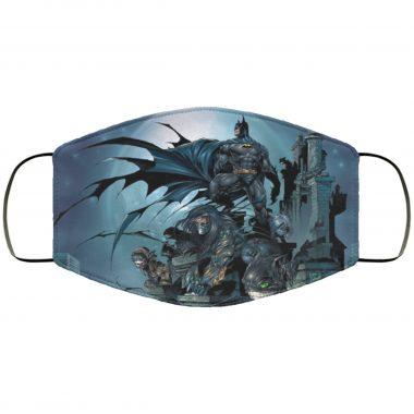 Batman Comic Art v2 DC Comics Caped Crusader Justice League Face Mask