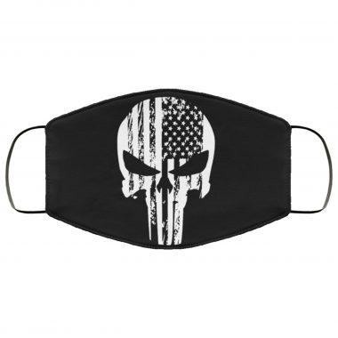 Punisher Skull American Flag Patriot Face Mask