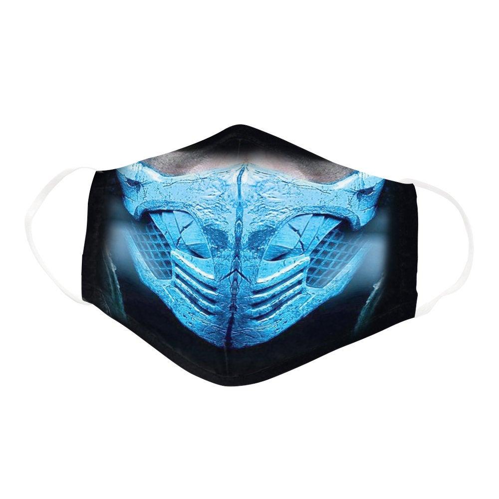 Broken Sub Zero Mortal Kombat Ninja Warrior Face Mask