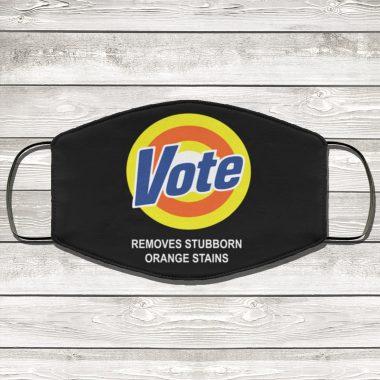 Vote Removes Stubborn Orange Stains Face Mask