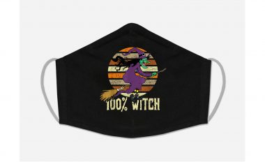 100 Witch Halloween 2020 face mask