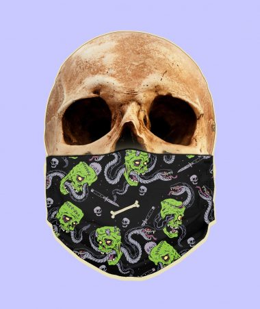 Snakes And Corpses Face Mask