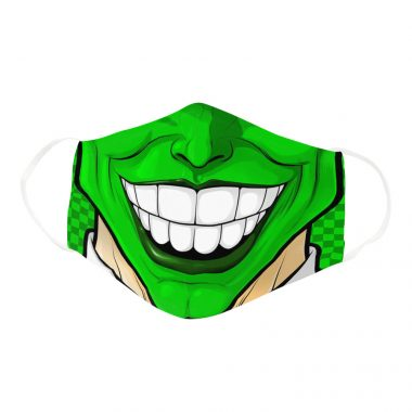 Green Mask Superhero Comedy Humor Character Face Mask