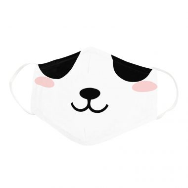 Cute Blushing Panda Cartoon Pandamic Face Face Mask