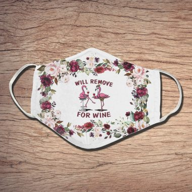 Will Remove For Wine 3D Face Mask Flamingo Face Mask