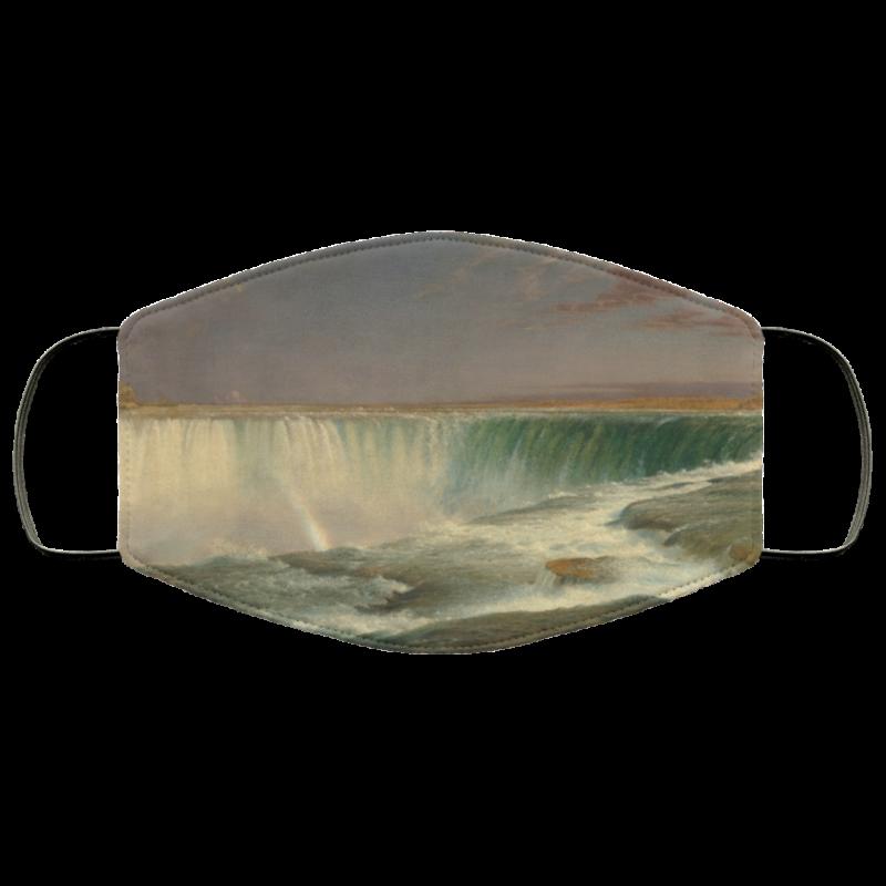 Niagara Falls by Frederic Edwin Church face mask washable