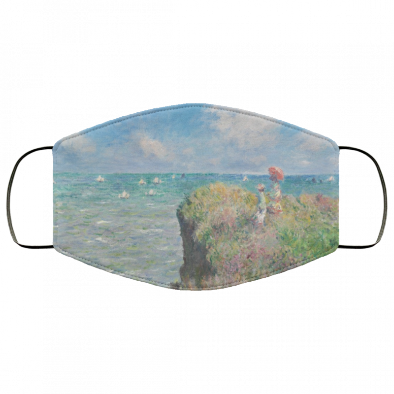Claude Monet - Cliff Walk at Pourville face mask washable reusable