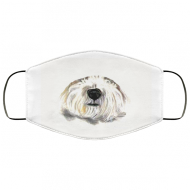 Bichon Frise dogs Fun Summer Turquoise Face Mask