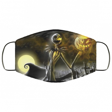 Jack Skellington at the graveyard The Night Before Christmas official design Mask