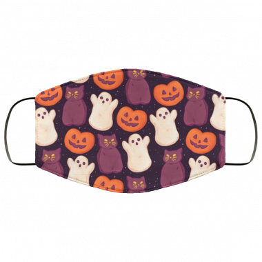 Halloween Marshmallows Dark Face Mask washable, reusable